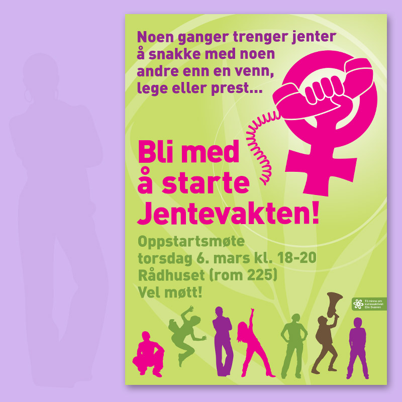 Poster for Jentevakten / crayoncrisis.com