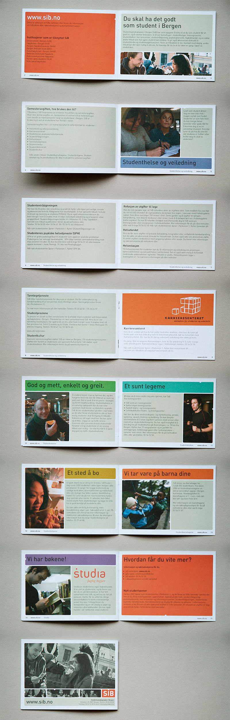 Student information brochure