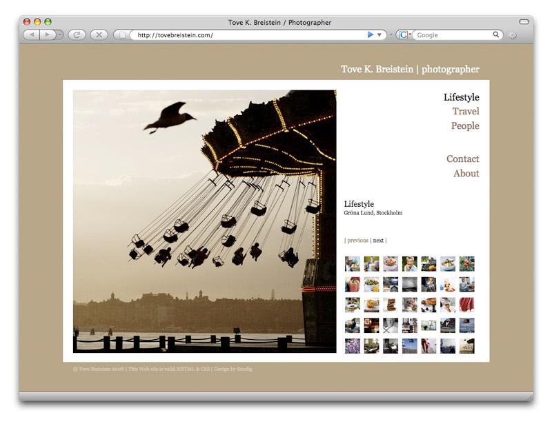 web design / tovebreistein.com