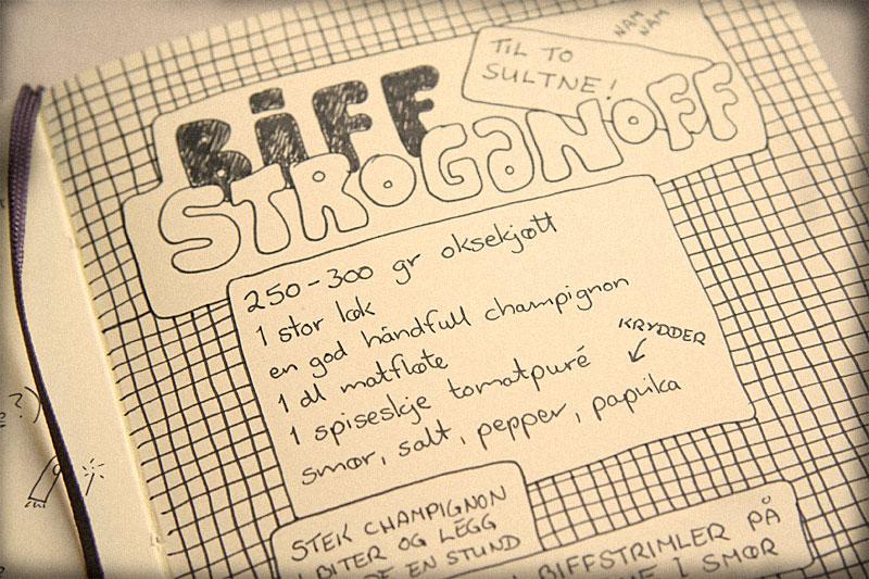 Recipe for Beef Stroganoff / crayoncrisis.com