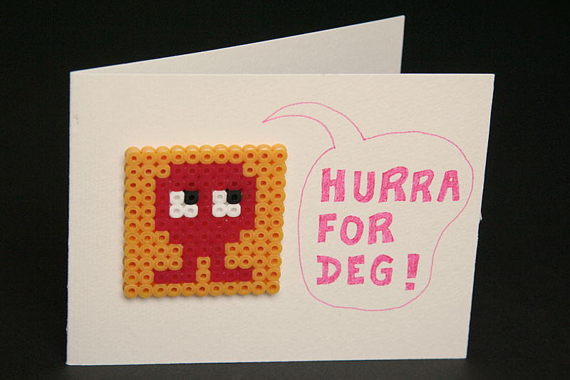 Hurra for deg! greeting card / crayoncrisis.com