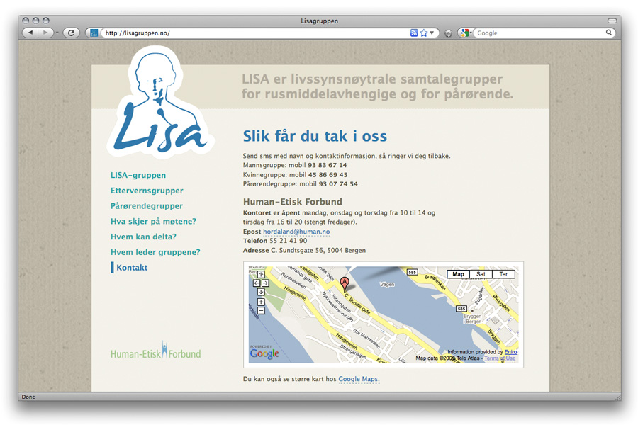 web design lisagruppen.no