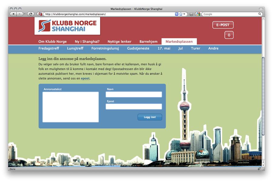 Klubb Norge Shanghai / crayoncrisis.com